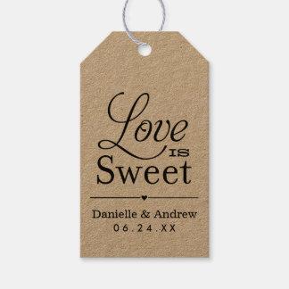 Wedding Favor Tags | Love is Sweet - Black