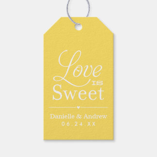 Love Is Sweet Wedding Gift Tags : Wedding Favor Tags Love is Sweet - Yellow
