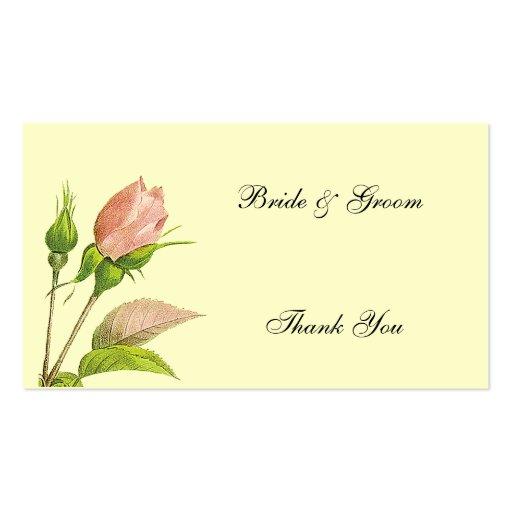 Wedding Favor Thank You Custom Business Cards