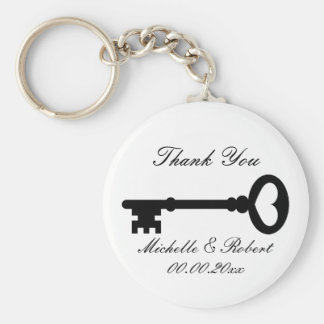 Wedding favor thank you keychains with vintage key