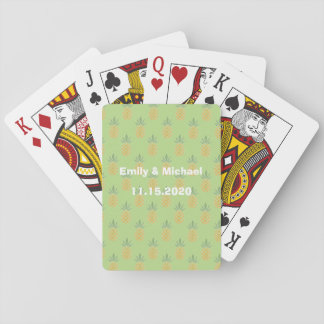Wedding Favor Tropical Playing Cards