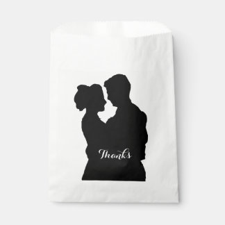 Wedding Favors - Couple silhouette Favour Bags