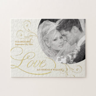 Wedding Favors - Custom Photo Jigsaw Puzzle