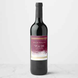 wedding favors elegant wine label