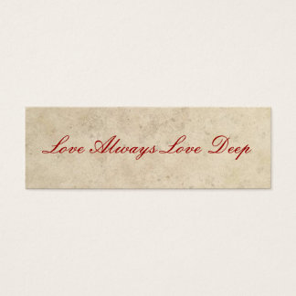 Wedding Favors - Love Always Love Deep Mini Business Card