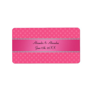 Wedding favors pink polka dots address label