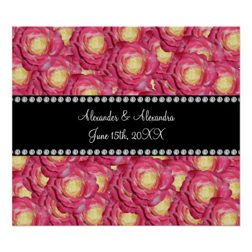 Wedding favors Pink roses Poster