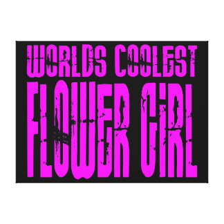 Wedding Favors Pink Worlds Coolest Flower Girl Stretched Canvas Prints