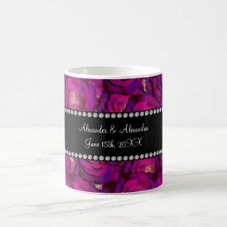 Wedding favors Purple roses Coffee Mugs