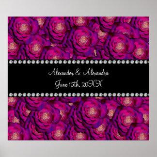 Wedding favors Purple roses Print