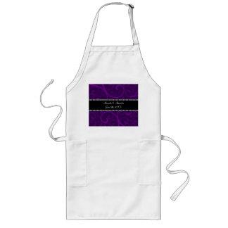 Wedding favors purple swirls apron