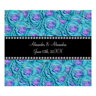 Wedding favors Turquoise roses Print