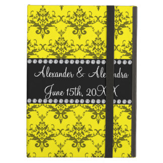 Wedding favors Yellow damask iPad Air Cases