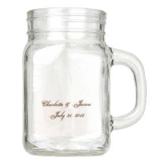 Wedding Favour Mason Jar Drink Glass Vase