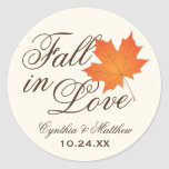 Wedding Favour Sticker | Fall in Love Theme