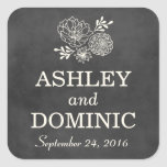 Wedding Favour Stickers | Vintage Chalkboard Style