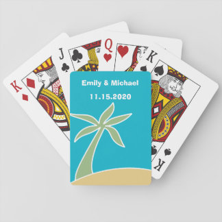 Wedding Favour Tropical Beach Playing Cards
