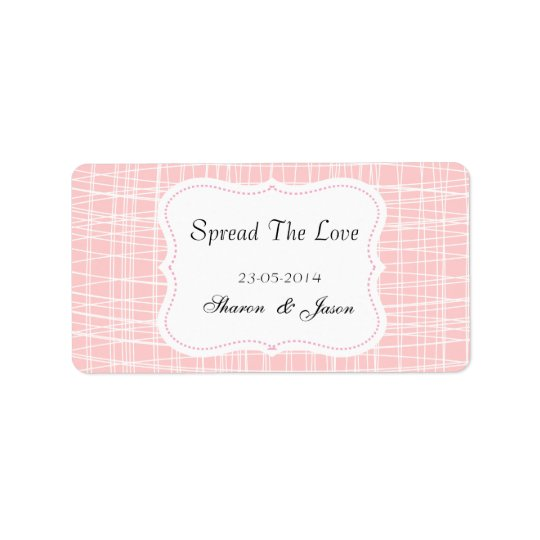 Wedding Favours Jam Jar Labels Spread The Love