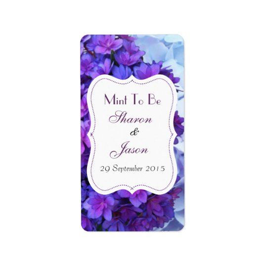 Wedding Favours Mint Sweet Labels Mint To Be