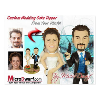 Wedding Figurines Postcard