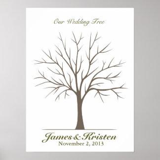 Wedding Fingerprint Tree – Classic Posters