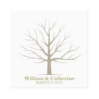 Wedding Fingerprint Tree - Square Canvas
