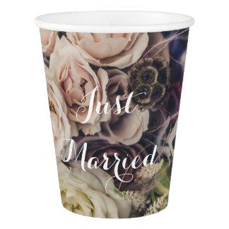 Wedding Floral Bouquet Paper Cup