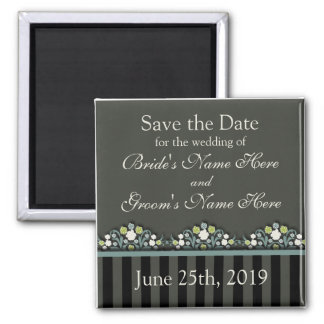 Wedding Floral Save The Date Magnet