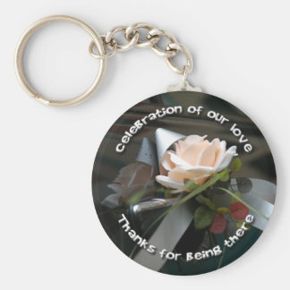 Wedding Flower & Ribbon Key Ring