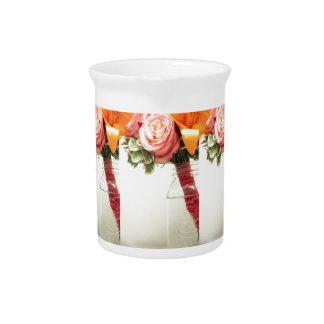 wedding flowers pink orange rose customize pitcher