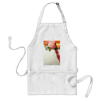 wedding flowers pink orange rose customize standard apron