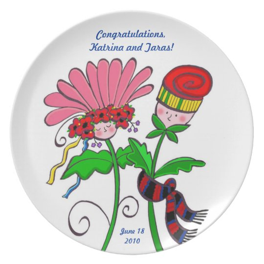 Wedding Flowers Plate