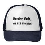 Wedding funny marriage mesh hats