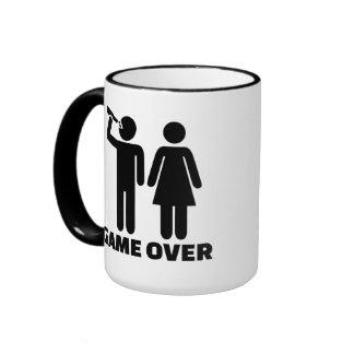 Wedding game over ringer mug