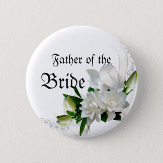 Wedding Gardenias 6 Cm Round Badge