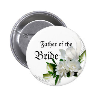 Wedding Gardenias 6 Cm Round Badge