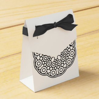 Wedding gift box : black white favour box