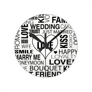 Wedding Gift Bride Groom Wall Clock