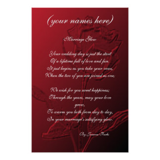Wedding Gift for the Bride and Groom Poster