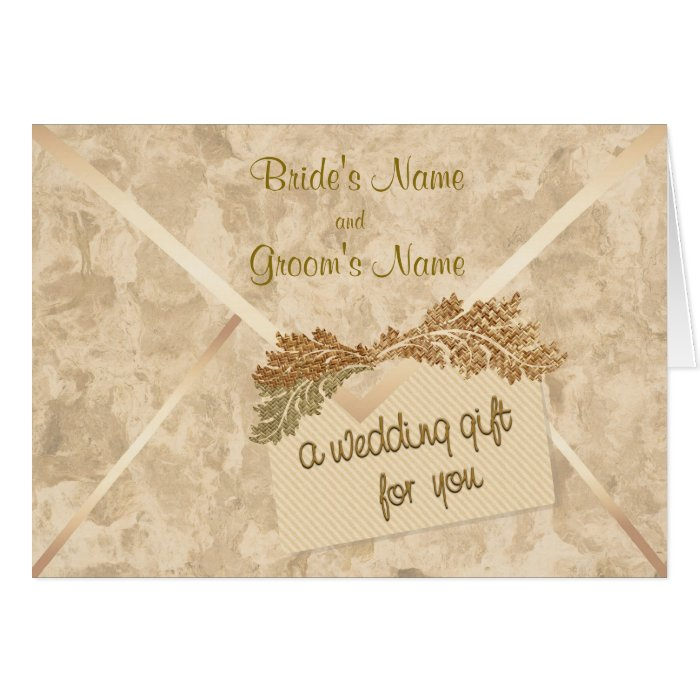 Wedding Gift Card Australia : Wedding Gift Money Enclosure Card Zazzle