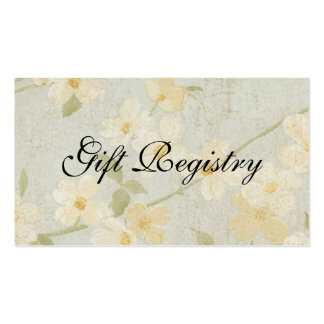 Wedding Gift Registery Card Business Cards