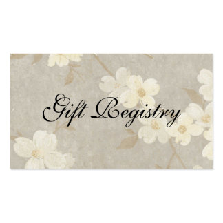 Wedding Gift Registery Card Business Card Templates