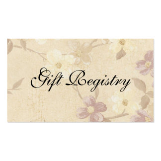 Wedding Gift Registery Card Business Card Template