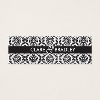 WEDDING :: gift tag :: damask - black