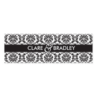 WEDDING :: gift tag :: damask - black Business Card Template