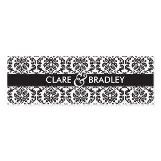 WEDDING :: gift tag :: damask - black Pack Of Skinny Business Cards