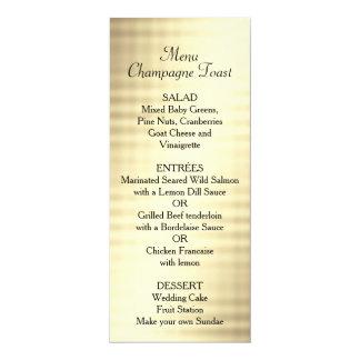 Wedding, Gold Foil, Custom Menu 10 Cm X 24 Cm Invitation Card