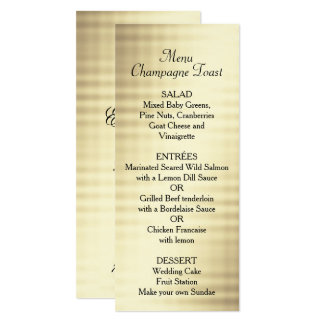 Wedding, Gold Foil, Custom Menu Card