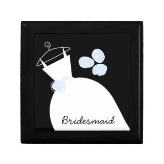 Wedding Gown Blue 'Bridesmaid' black Gift Box