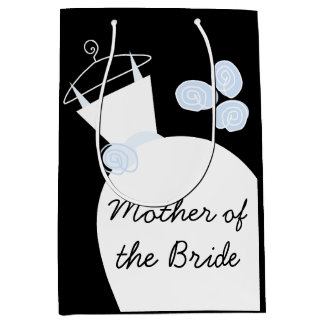 Wedding Gown Blue Mother of Bride black medium Medium Gift Bag
